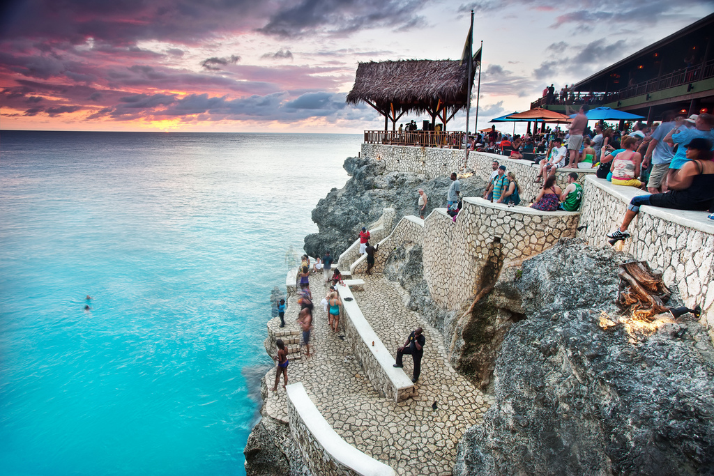 Sunset at Rick's Cafe in Negril