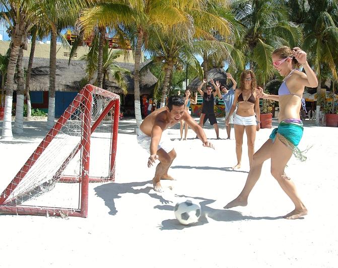 Beach sports - football soccer