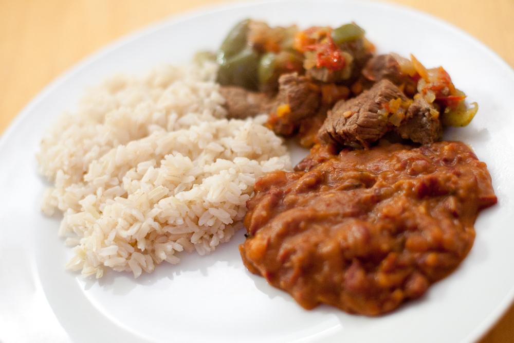 La Bandera - Dominican dish in Punta Cana
