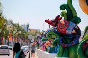 Cozumel Carnival decorations
