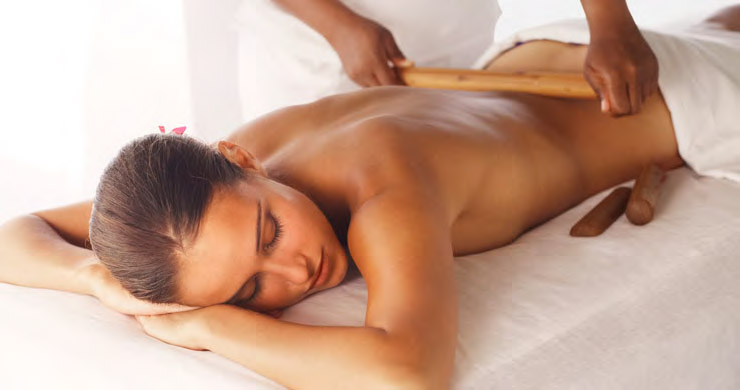 Relax with a massage in a hotel