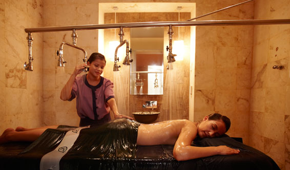 Luxury spa with Rainforest shower at Banyan Tree