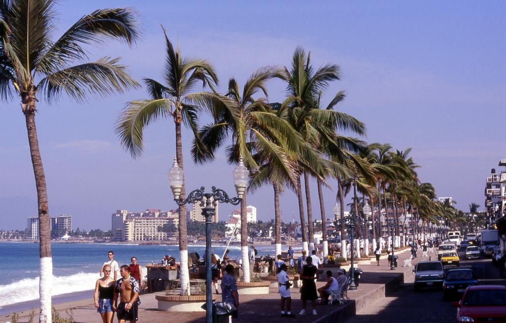 View of El Malecon in Puerto Vallarta