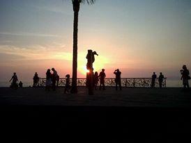Amazing sunset at El Malecon