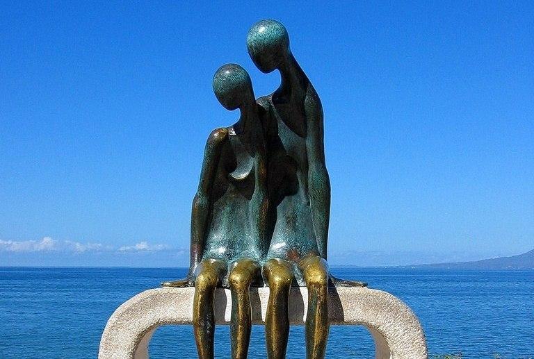 Bronze sculpture at El Malecon in Puerto Vallarta