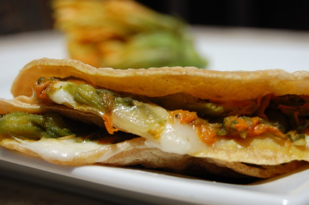 Quesadilla de flor de calabaza - photo by The Masa AssAssin