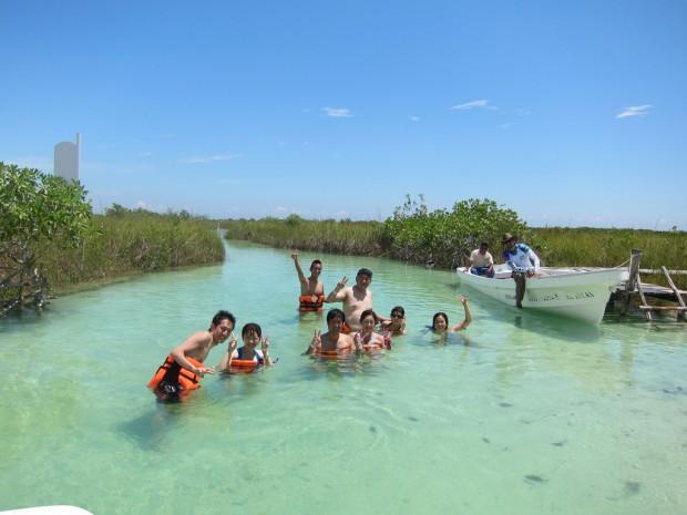 Swimming in Sian Kaan