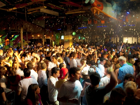 People dancing and having fun at Sr. Frogs in Puerto Vallarta, Mexico