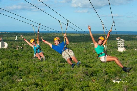 Canopy tour, Xplor Adventure Park