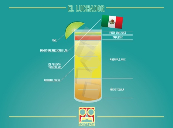 The El Luchardor cocktail using añejo or aged tequila