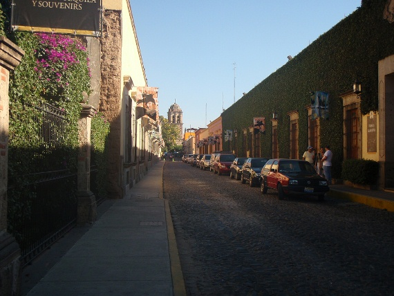 An artificial street constructed by the Jose Cuervo tequila company to promote tourism to the town of Tequila in Jalisco, Mexico