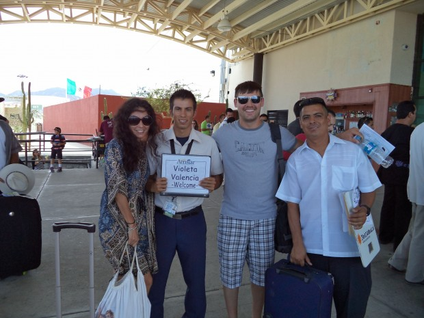 @VirtualViolet being picked up from the Los Cabos airport by Manuel, the Amstar representative