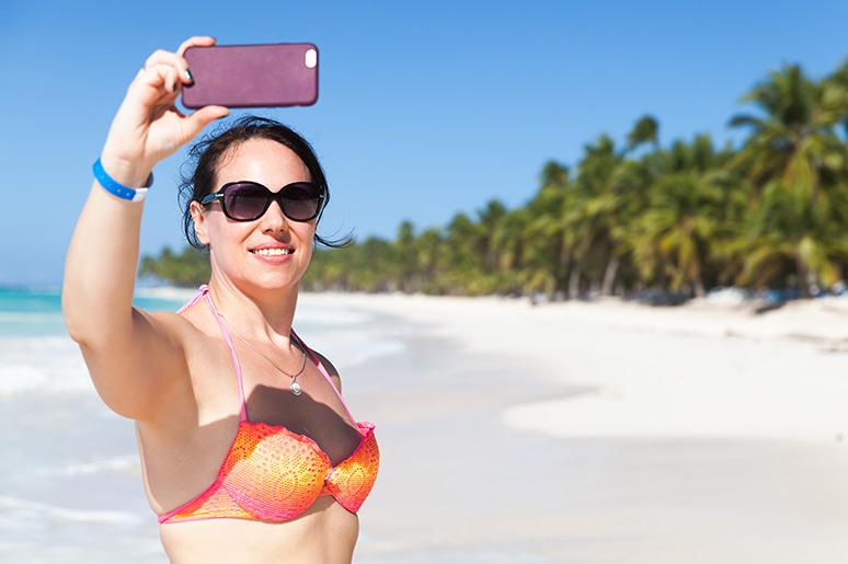 saona island selfie