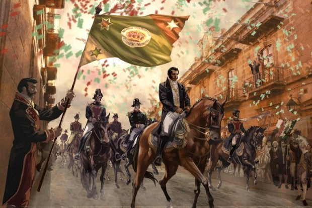Augustin de Iturbide on his triumphant greeting as a national hero and liberator. Image courtesy of ondacultural.org