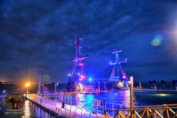 A view of the pirate ship in Punta Cana
