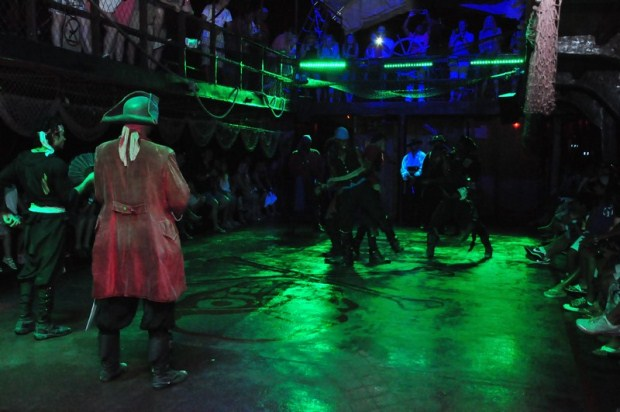 A group of pirates face off aboard a ship off of the coast of Punta Cana