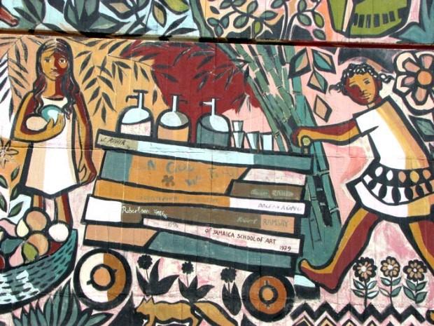 A mural in Kingston, Jamaica