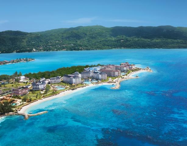An aerial view of Secrets Saint James in Jamaica