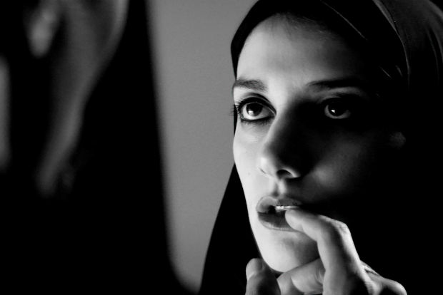 Movie scene from A Girl Walks Home Alone At Night, directed by Ana Lily Amirpour