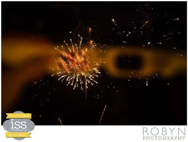 Heart-shaped fireworks display at the ISSE wedding planner meeting in the Riviera Maya, Mexico