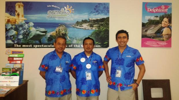 Apple Vacation representatives at Now Jade in Puerto Morelos, Riviera Maya