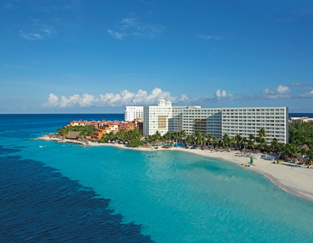 An aerial view of Dreams Sands Cancun