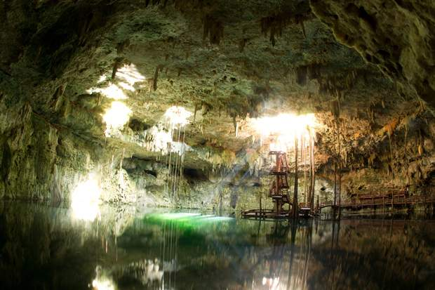 A view of the Cenote Maya which can be visited on the Ek Balam tour