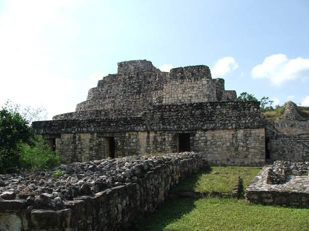 A building at the Mayan ruins of Ek Balam, Mexico