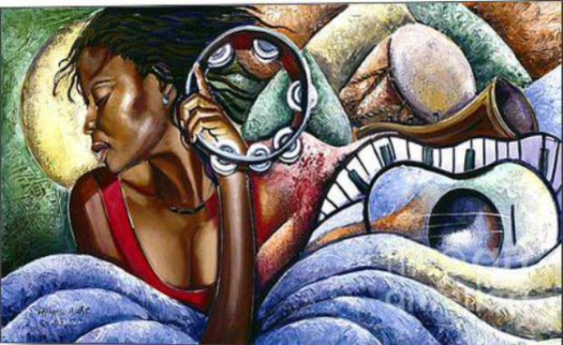 Aratwork by Jamaican painter Alphason Blake