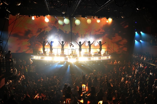 Performers at Cancun's Coco Bongo light up the audience