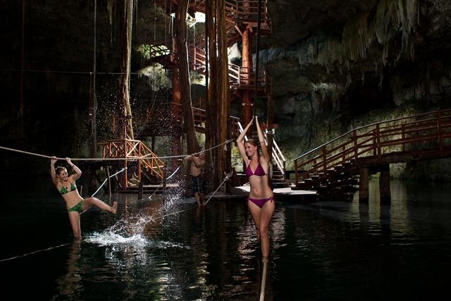 Cenote Maya Fitness Vacation