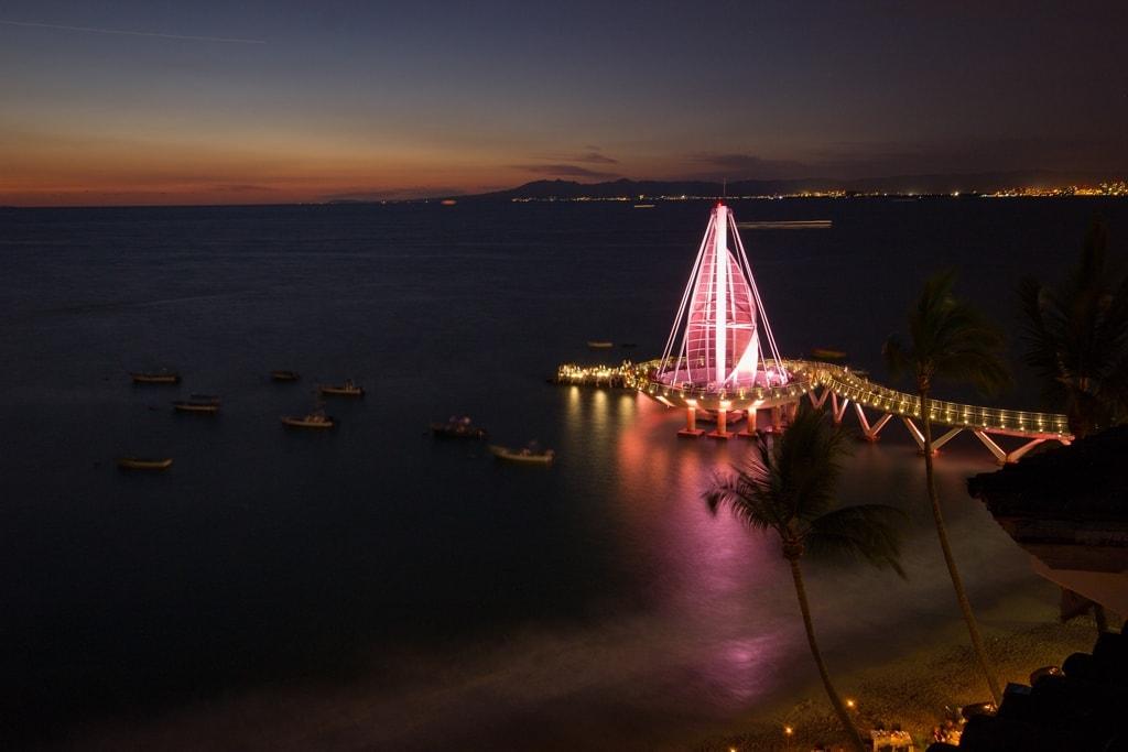 Playa Los Muertos at night