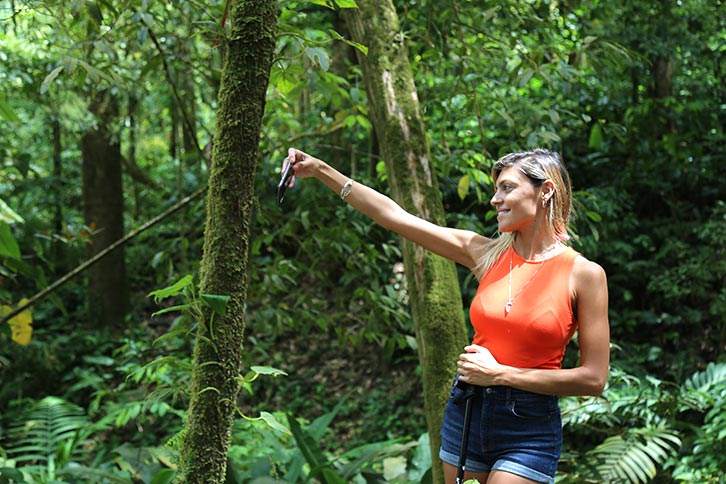sensoria costa rica selfie rainforest