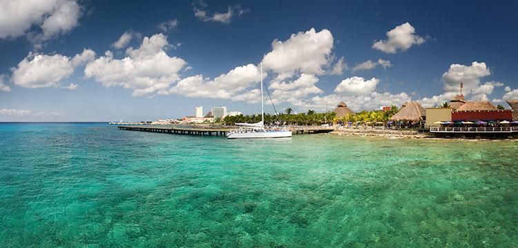 Coastline of Cozumel Island