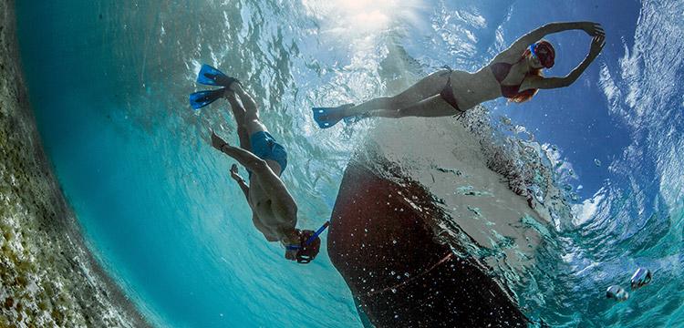 Couple Snorkeling in Cozumel