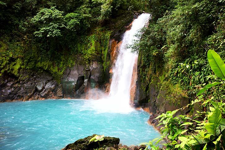 rio celeste waterfall guanacaste costa rica
