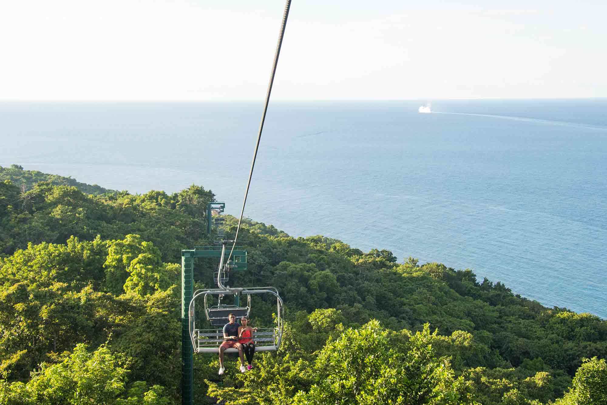Things to do in Jamaica with Kids Sky Explorer Tranopy Mystic Mountain