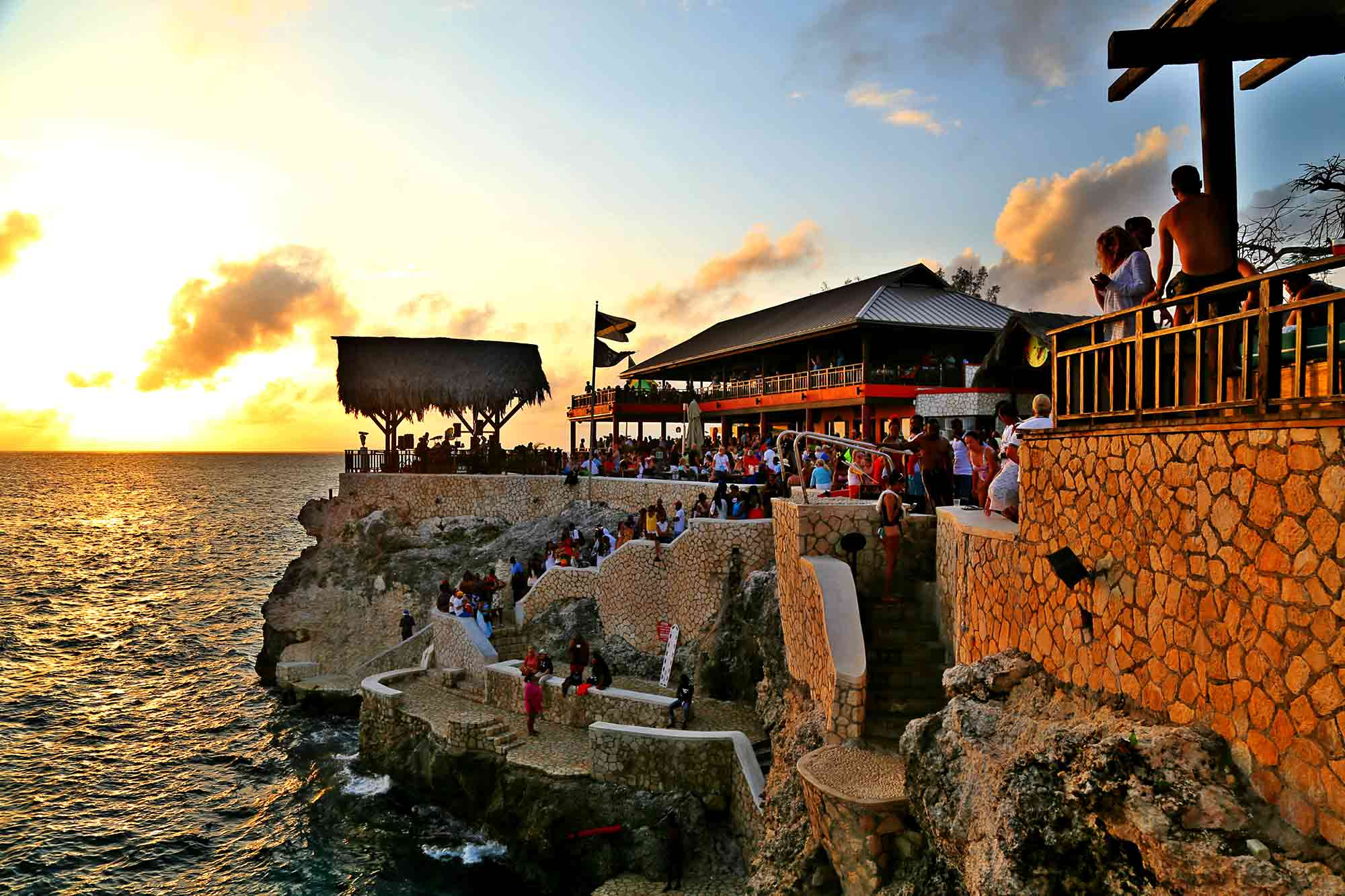 Things to do in Jamaica with Kids Ricks Cafe