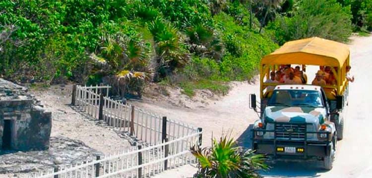 cozumel tour truck mayan heritage