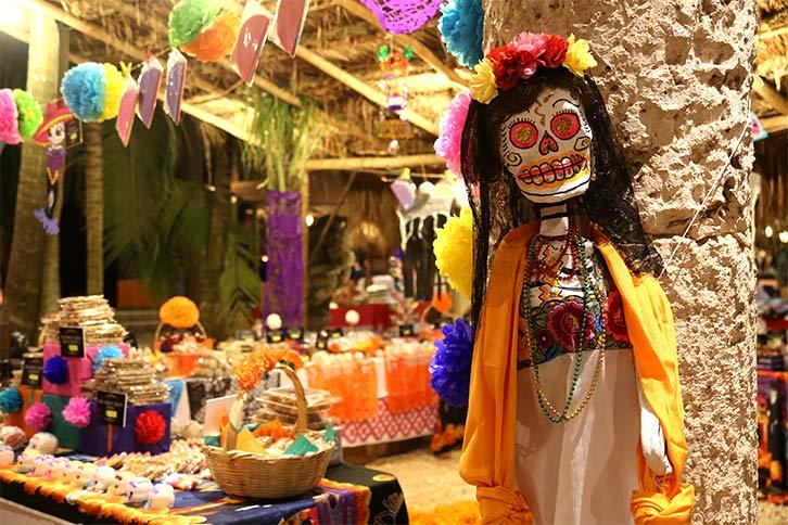 catrina skull mexico xcaret day of dead