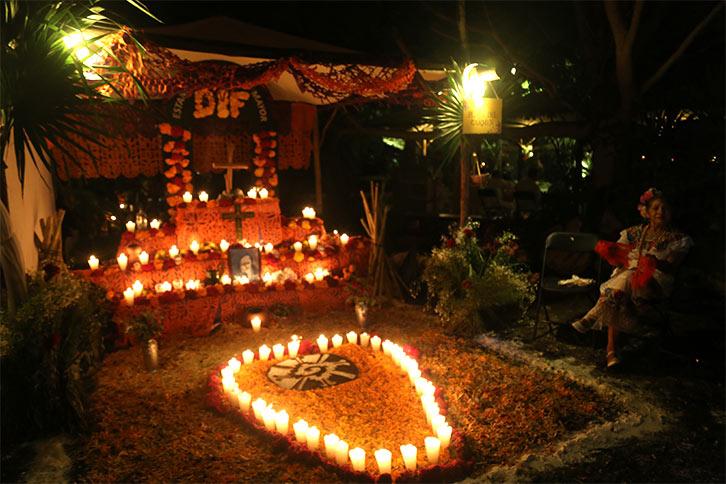 xcaret life death celebration tomb