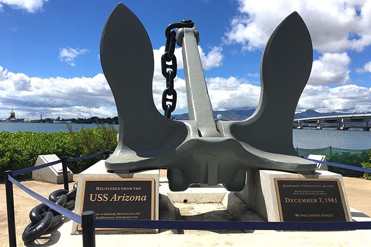 Tour Pearl Harbor on your Own Monument Dec. 7, 1941