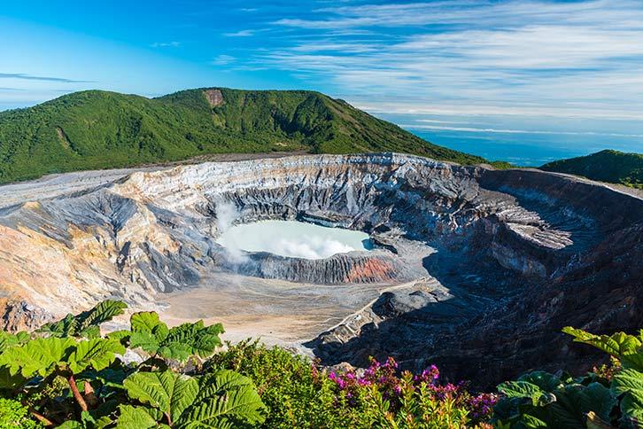 costa rica volcanoes poas