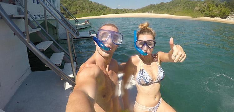 seven bays tour huatulco snorkel