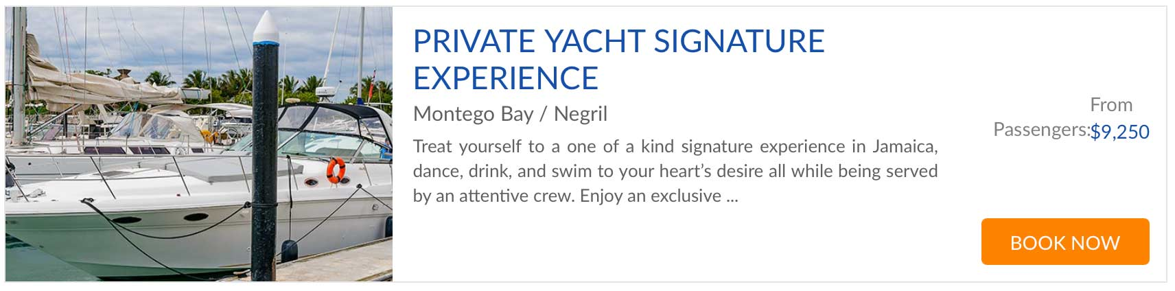 yacht tour signature experience